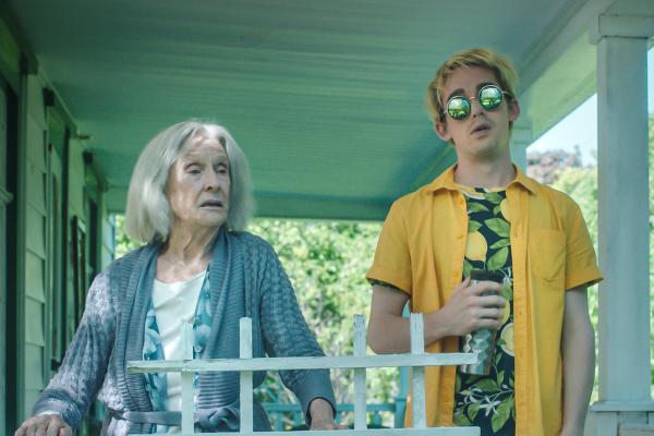Jump, Darling, Cloris Leachman as _Margaret_ and Thomas Duplesses as _Russell_ (Viktor Cahoj) (Porch FF)